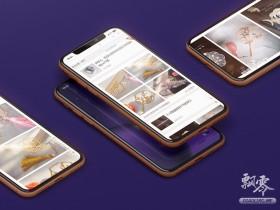最新多角度苹果iPhone XR UI样机展示手机模型效果图psd免费下载
